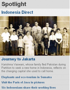 The Vaswani family who fled Pakistan for Indonesia