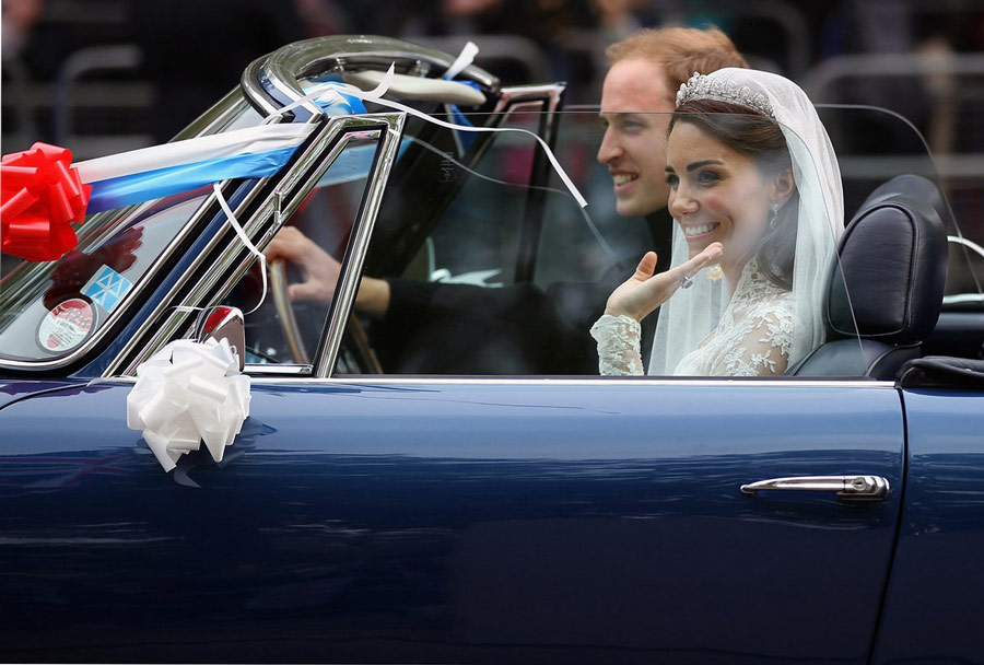The Duchess of Cambridge and Prince William at their wedding