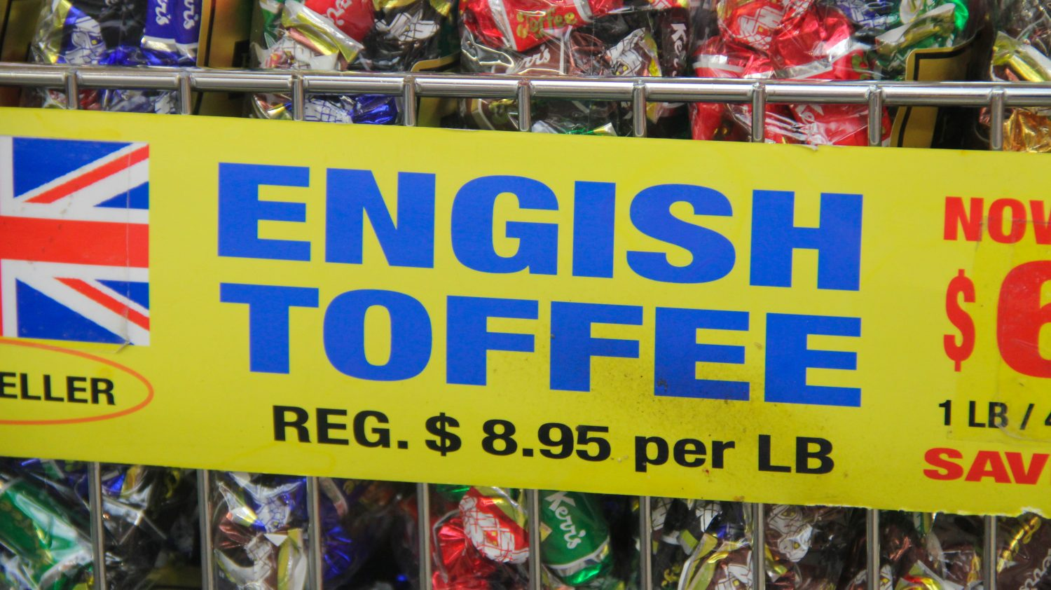 English toffee misspelling