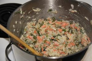Salmon and Broccolini Risotto
