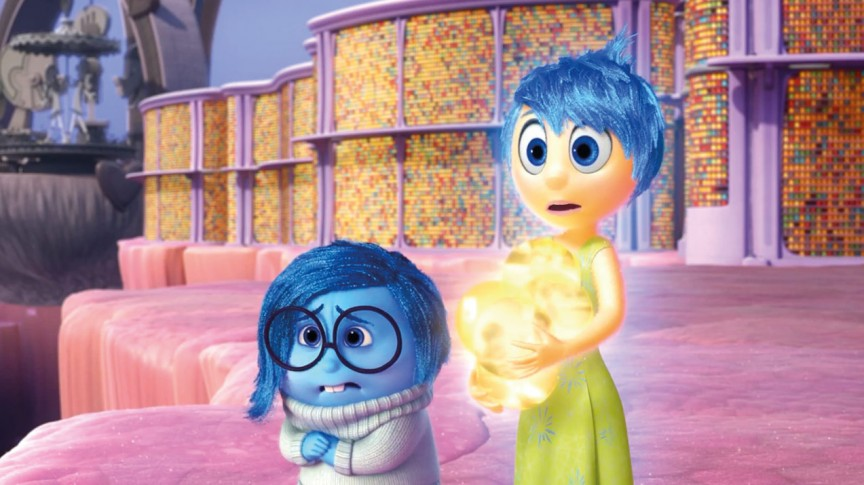 Sadness and Joy in the new Disney Pixar movie Inside Out (Disney/Pixar)