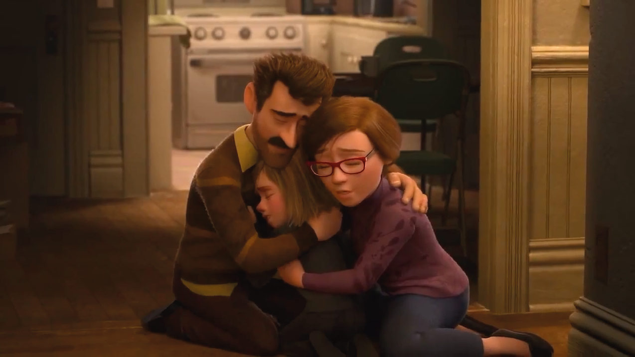 Inside Out - Dad, Riley and Mom (Disney/Pixar)