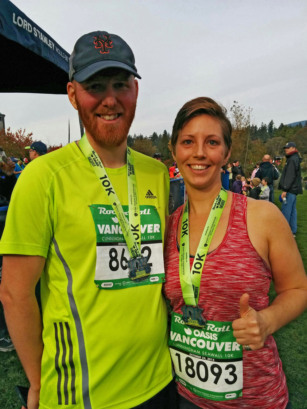 Conrad and Maia, after finishing the Rock 'n' Roll 10K in 57 minutes. Thanks for running for me Maia! (Jenni Sheppard_