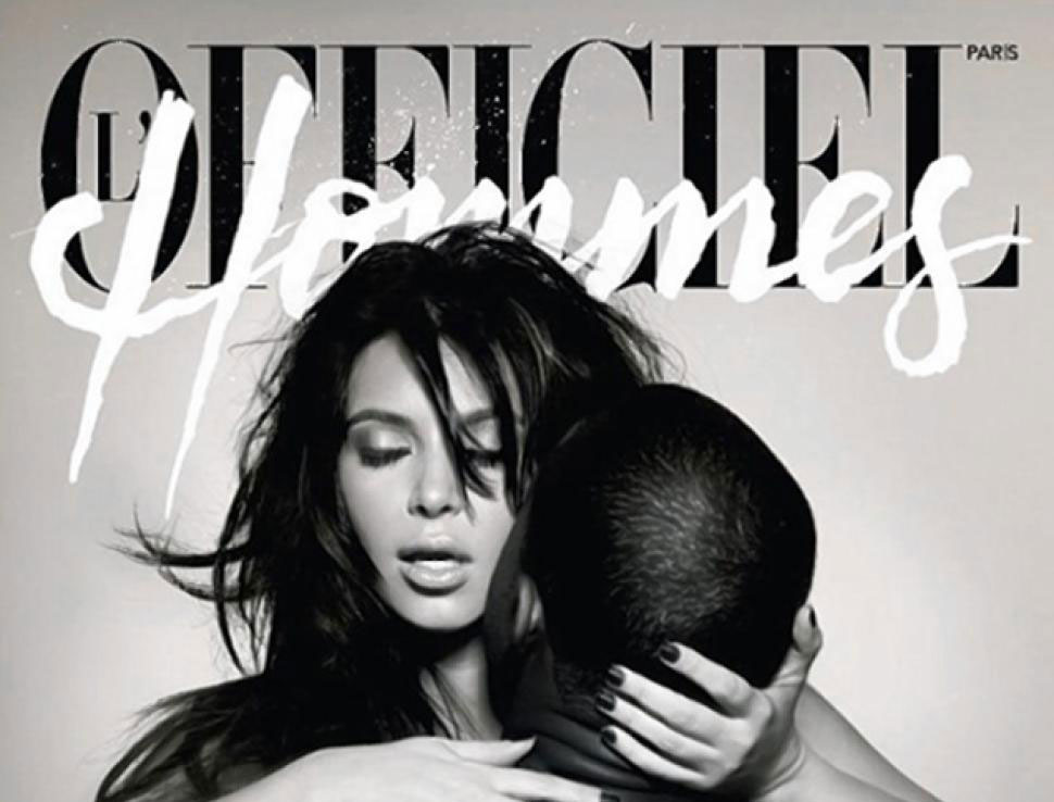 Kim Kardashian and Kanye West (Officiel Hommes)