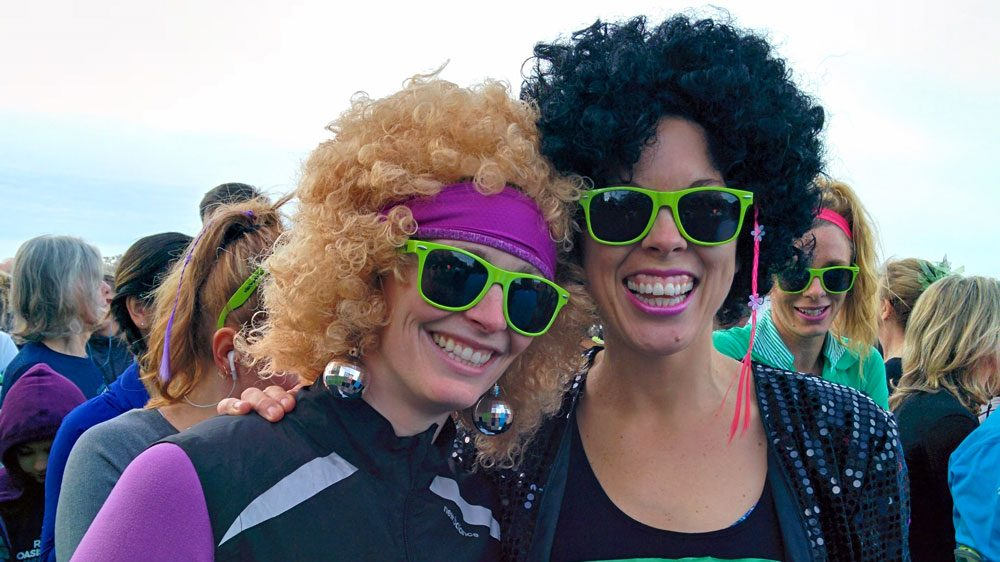 They brought it back! These ladies were in high spirits at the start line. (Jenni Sheppard)