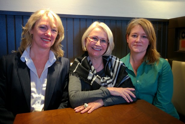 Vancouver real estate - Mortgage broker Michelle Byman (l), realtor Linda Burchell (m) and home inspector Trina Skare (r) (Jenni Sheppard)