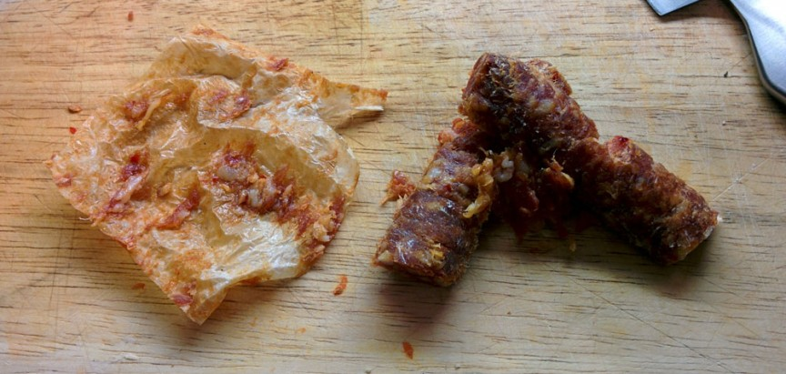 How do you peel chorizo? (Jenni Sheppard)